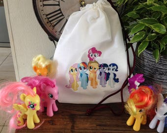 """""""My little pony"""" patterned fabric pouch"""