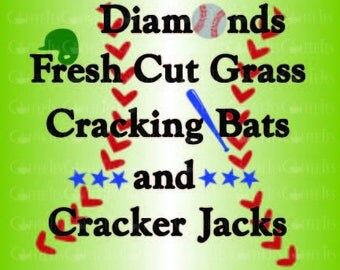 Diamonds Cracking Bats Cracker Jacks : DOWNLOADABLE  FILE ONLY png. pdf. svg. dxf. Use files for screen printing, vinyl and more