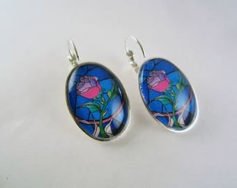Enchanted rose drop earrings