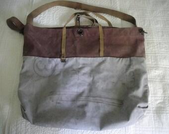 Vintage Postal sack repurposed tote