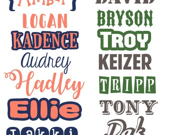 Name Decal/Yeti Decal/Monogram Decal/Girl Decal/Men Decals/ Laptop Decal/Cute Decals/Vinyl Decals