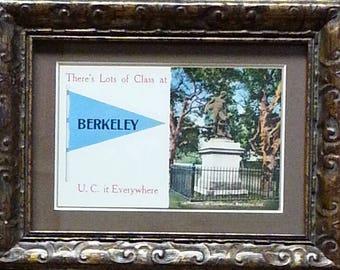 Cal Berkeley Golden Bears Framed Vintage Postcard
