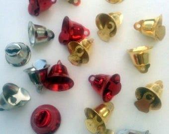 10 Christmas Jingle Bells charms #EJ20
