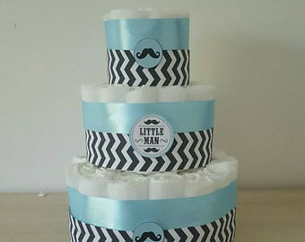 """great for boy diaper cake """"Graphic"""" + a onesie with name personalized"""