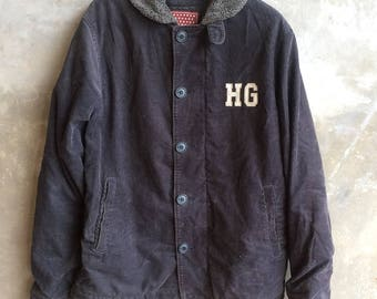 Vintage Hysteric Glamour Winter Jacket Corduroy Team Hysteris US