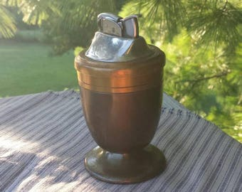 Evans, vintage Brass and Bronze cigarette lighter.