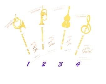 Instrument Bookmarkers, Golden, Creative, Hollow Out