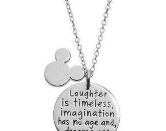 Disney Walt Disney Quote Necklace