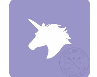Unicorn Head Nail Vinyl Fingernail Art Stencils