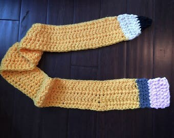 Pencil scarf. A perfect gift for your little ones teacher!!