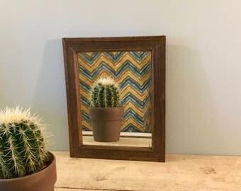 Miroir ancien etsy for Petit miroir rectangulaire