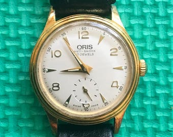 Oris Swiss Made 7312 17 Jewel Mechanical Wrist Watch With In-House Movement