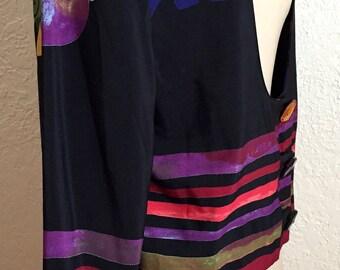 Marsha & Julio Modern Art Bold Colours Jacket.  Size 12 Tall