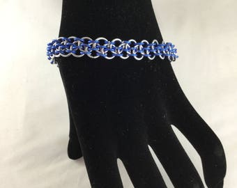 Dragon step aluminium chainmail bracelet
