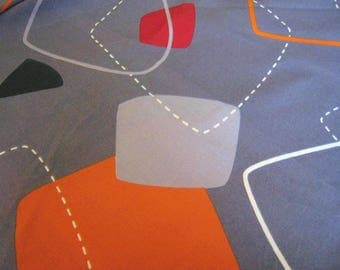 Cotton fabric vintage from the 70s 240 x 50 cm