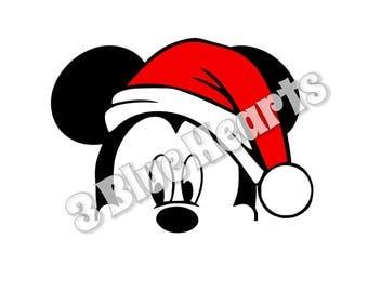 Santa Mickey svg studio dxf pdf jpg png