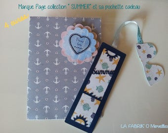 "Bookmarks ""SUMMER"" and its matching gift bag"