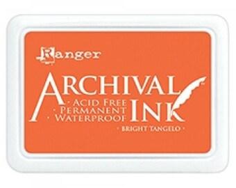 Ranger Archival Ink Bright Tangelo - Orange Ink - Orange Archive Ink - Ranger Orange Ink - Permanent Orange Ink - Waterproof Ink