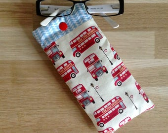 Fabrics, UK - red and blue glasses case