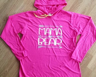 Mama Bear shirt, Mama Bear sweatshirt, mom shirt, womens hood sweatshirt