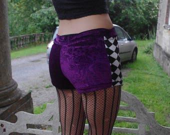 Little miss purple swirl harlequin booty snugs