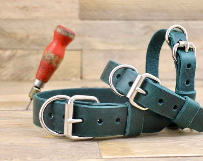 Classic collar, Pet gift, FREE ID TAG, Customised leather collar, Forest  dog collar, Handmade collar, Distressed forest leather collar.