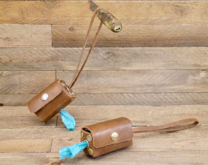 Sale!! Dog poop dispenser on SALE!! Leather dog poop bag holder, Light brown poop dispenser, Dog accessories, Dog waste bag, Poop Mess Bag