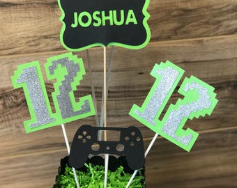 Gaming party centerpieces, gamer party, nintendo party, video game party, xbox party, ps4 party