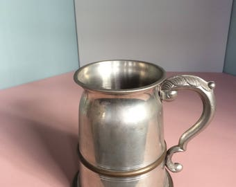 Beer Tankard with glass bottom