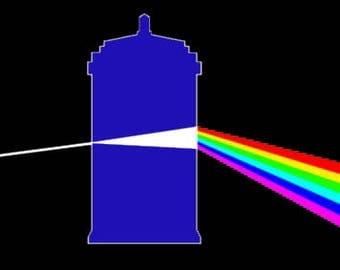Dark Side of the TARDIS Perler Bead Sprite Pattern - Pixel