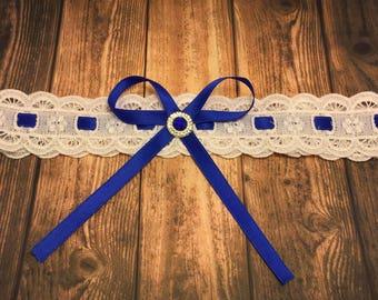 Something Blue Garter - Wedding Garter - Vintage Bonton Bride Accessory