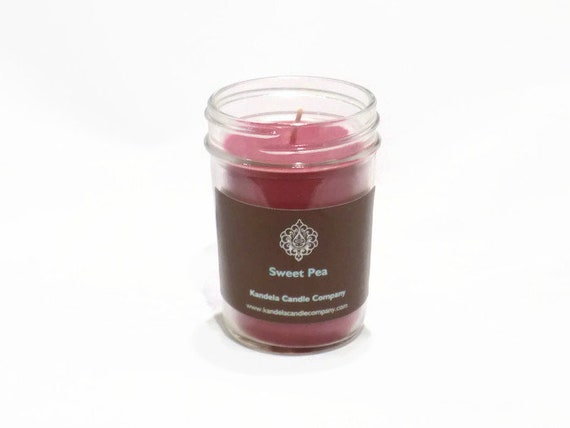 New and for Limited Time! Sweet Pea Scented Candle in Jelly Jar