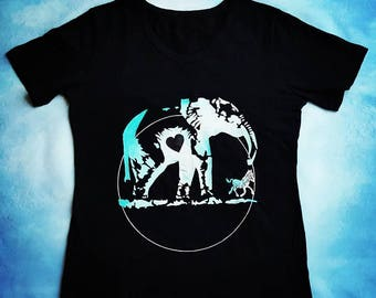 Hand-Painted T-shirt: ElephantLove