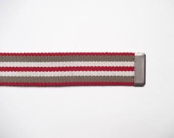 Shoulder strap bag cotton stripes width 38 mm