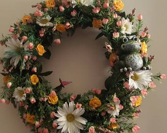 Hand Made Summer and Spring Time Floral Wreath