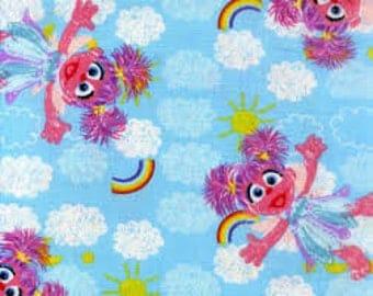 "Abby Cadabby - Sesame Workshop fabric, by the half yard, 44"" wide, 100% cotton fabric, muppet fabric, sesame street fabric, cartoon fabric"