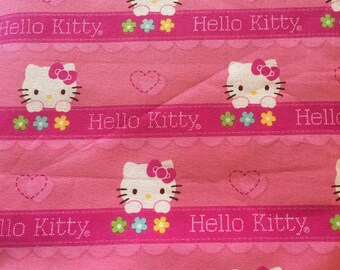"Hello Kitty hearts and flowers ribbon by Springs Creative, 43-44"" wide, 100% cotton, by the half yard"
