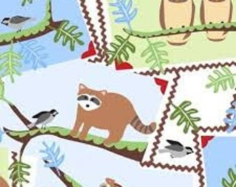 """Frolic Postcards by Wendy Slotboom for In The Beginning Fabric, 43"""" wide, 100% cotton"""