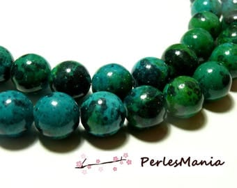1 strand of approx 100 colored Chrysocolla round beads 4 mm for jewelry making
