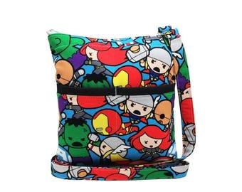 20% OFF SALE Marvel Avengers Kawaii Crossbody Bag // Sling Bag // Crossbody Purse // Shoulder Bag // Hipster
