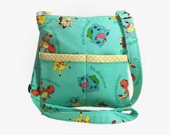20% OFF SALE Pokemon Crossbody Bag // Sling Bag // Crossbody Purse // Shoulder Bag // Hipster