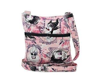 20% OFF SALE Disney Villains XL Crossbody Bag // Sling Bag // Crossbody Purse // Shoulder Bag // Hipster