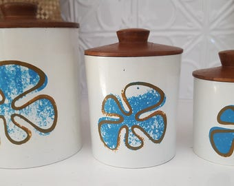 3 Vintage, Retro Canisters