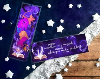 Something Very Magical J. K. Rowling Quote Bookmark - Handmade