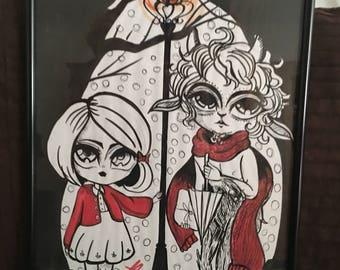 Narnia Framed Original A3 Artwork