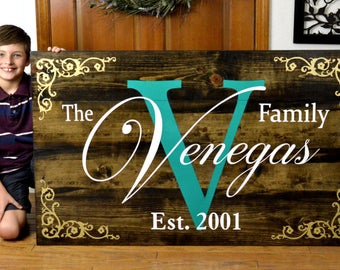 "Very Large Custom Painted Wood Sign 48""x30"""