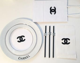 Chanel inspired party pack / Chanel party / Chanel / Birthday party