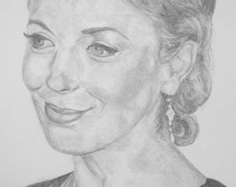 Amanda Abbington Pencil [PRINT]