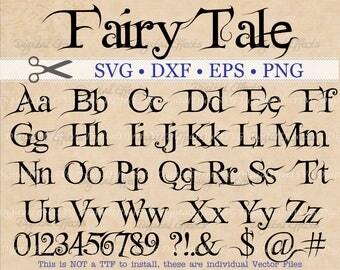 Fairytale SVG Letters, Fancy Monogram Font Svg, Dxf, Eps, Png;  Brush font, Fancy Letters, Halloween SVG Font, Silhouette Files, Cricut Dxf