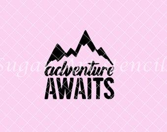Adventure awaits stencil  NB900767
